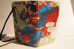 Comic book iPhone 4/4S case made with a vintage Italian Superman comic book.
