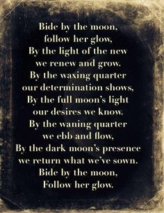 Bide by the Moon Wiccan Spells, Magick, Witchcraft, Capricorn Moon, Dark Moon, Moon Magic, Practical Magic, Spiritual Path, Kitchen Witch