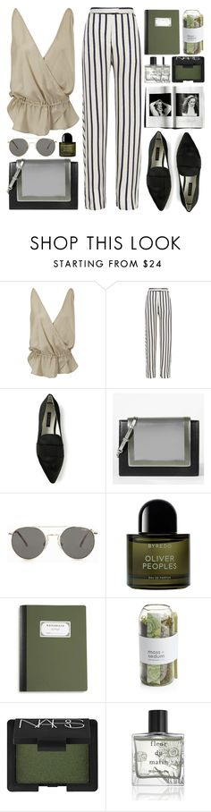 """""""02.06"""" by mariimontero ❤ liked on Polyvore featuring Wunderkind, Nicholas, Senso, CHARLES & KEITH, Le Specs, Byredo, Crate and Barrel, NARS Cosmetics and Miller Harris"""