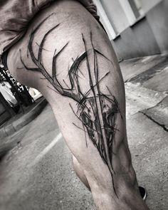 "Inez Janiak on Instagram: ""#wowtattoo #blacktattoomag #blacktattooart #inkstinctsubmission #equilattera #black #tattoo #btattooing #darkartists…"" Sketch Style Tattoos, Tattoo Sketches, Black Tattoos, Cool Tattoos, Amazing Tattoos, Blackwork, I Tattoo, Tatting, Ink"