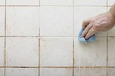 Nothing makes a bathroom or kitchen look old and dirty faster than grubby grout and tired old tiles. These also tend to harbor mold and mildew, which pose serious health risks. Here's all you need Mold In Bathroom, Bathroom Cleaning, House Cleaning Tips, Cleaning Hacks, Cleaning Schedules, Clean Tile Grout, Small Garden Design, Hacks Diy, Clean House