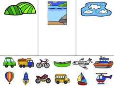 Vehicle Sort - Land, Sea, Sky by Language and Literacy - Speech English Activities, Sorting Activities, Preschool Learning Activities, Free Preschool, Preschool Printables, Preschool Lessons, Preschool Worksheets, Book Activities, Transportation Activities