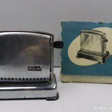 Antigua Tostadora de Pan Caja Original Cromada Utensilio de Cocina Años 50 Vintage Toaster, Retro Vintage, Kitchen Appliances, Auction, Trading Cards, Antigua, Objects, Cooking, Home