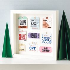 personalised travel tag artwork by velvet ribbon | notonthehighstreet.com