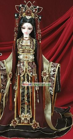 Chinese Classical Ancient Princess Phoenix Clothing Complete Set