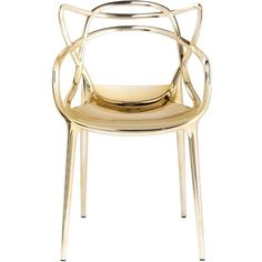 KARTELL Masters Gold Edition Set Of 2 Chairs (8,810 CNY) ❤ liked on Polyvore featuring home, furniture, chairs, decor, home decor, seating, gold, outdoor furniture, set of 2 chairs and gold chair