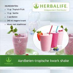 Aardbeien-tropische kwark shake