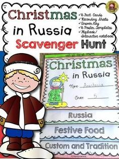 Christmas in Russia| Holidays around the world | Christmas |  Christmas in Russia fact cards will take your students on a Scavenger Hunt for interesting facts on how Christmas is celebrated in Russia. Your students will have fun as they learn about the history, culture, custom, and tradition of Christmas festive celebrations in Russia. https://www.teacherspayteachers.com/Product/CHRISTMAS-CHRISTMAS-AROUND-THE-WORLD-RUSSIA-2262766