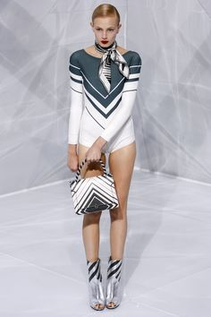 Anya Hindmarch Spring 2016 Ready-to-Wear Collection Photos - Vogue  A collection of nothing but fun leotards? Why not?  http://www.vogue.com/fashion-shows/spring-2016-ready-to-wear/anya-hindmarch/slideshow/collection#2