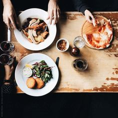 Lunch for three by kirstinmckee | Stocksy United