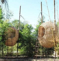 "7,521 次赞、 51 条评论 - designboom magazine (@designboom) 在 Instagram 发布:""life-sized nests can be installed in your back garden using natural materials and techniques. the…"""