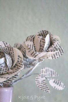 seidenfein 's Dekoblog: 17.Dez : DIY Buchpapier - Rosen * DIY vintage paper roses