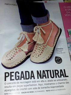 .: Trabalho publicado na Revista Manequim!!!! upcycling shoes