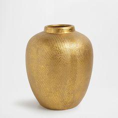 Golden terracotta vase ZARA HOME