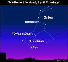 april 10th 2012 orion  descends in the west