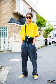 Yellow Resale Streetwear in Harajuku w/ Resale Fashion, Converse, Adidas & Guess