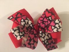 A personal favorite from my Etsy shop https://www.etsy.com/listing/505347147/valentines-day-double-layered-hair-bow