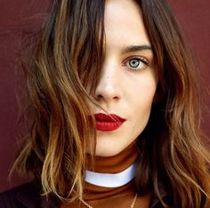 Celebrity lips we love: Alexa Chung i love keeping my eye makeup minimal with bold lips