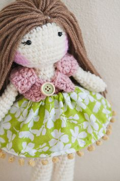 Handmade Crochet Dolls by LinaMarieDolls on Etsy .......................... Plush doll, rag doll, ballerina doll, soft doll, handmade doll, crochet doll, soft toy, Amigurumi