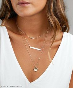 76d245033bc6c7 Personalized Layered Necklace, Gift Mom, Engraved Bar Necklace Birthstone,  Simple Layering Necklace,