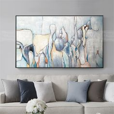 Abstract painting Acrylic canvas wall art pictures for living room wall decor home decor bedroom original modern blue gray texture painting Abstract Canvas, Acrylic Painting Canvas, Canvas Wall Art, Abstract Paintings, Art Paintings, Floral Paintings, Blue Canvas, Texture Art, Texture Painting