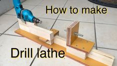 DIY 電動ドリルで旋盤の作り方 How to make hand drill lathe. Awesome Woodworking Ideas, Woodworking Lathe, Learn Woodworking, Woodworking Workshop, Woodworking Techniques, Woodworking Videos, Woodworking Projects, Intarsia Woodworking, Woodworking Basics