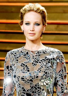 Jennifer Lawrence attends the 2014 Vanity Fair Oscar Party Hosted By Graydon Carter on March 2nd, 2014