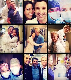 i basically live for behind the scene pics of the grey's anatomy cast - this is perfect