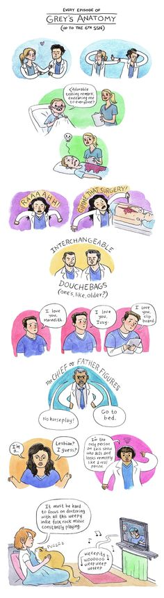 Lucy Knisley - Grey's Anatomy... I LOVE GREYS BUT THIS IS TOO FUNNY-Mal