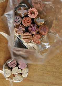 The Perfect Gift: Cork Stamps. Did this before, but hard to carve a perfect shape