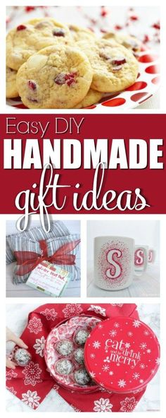 Easy DIY Handmade Gift Ideas perfect for Christmas, or any occasion where you want to give frugal, thoughtful and unique handmade gifts to someone you love! Gifts for him or her, neighbors, coworkers, teachers and more. #Christmas #giftideas #holidaygifts #holidays #treats