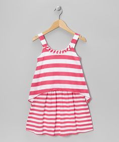 Take a look at this Fuchsia & White Stripe Sundress - Girls by Plum Pudding on #zulily today!