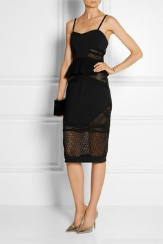 Jonathan Simkhai | Neo Scallop corded mesh and stretch-woven pencil skirt | NET-A-PORTER.COM