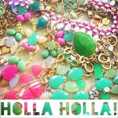 Holla, HOLLA!  Happy Spring!  Get your pink & green on with Stella & Dot's gorgeous new collection! #stelladotstyle #savesweetbriar #thinkisforgirls #vixenstrong