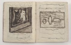 James Castle, 'Untitled (64 Drawing, telephone girl + baby drawings interior)', n.d., Fleisher/Ollman   Artsy