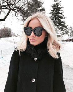 Garanta um visual bem estiloso para hoje! O óculos de sol da Céline Marta é 3ec4a30b36