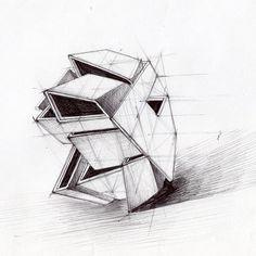 House Sketch, Architectural Sketches, Building Art, Conception, Architecture Design, Concept Art, Students, Illustrations, 3d