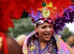 Notting Hill carnival coverage with SiA dancer