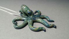 Blue moon octopus pendant     Www.etsy.com/shop/glassnfire