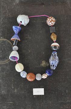 katy krantz: ceramic necklace wall hangings