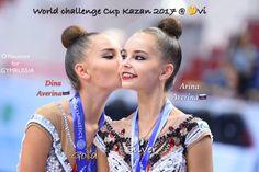 Dina wons Gold and Arina Silver @ World Challenge Cup Kazan-Russia 2017 ❤️❤️ Photo by Oleg Naumov rgymrussia.