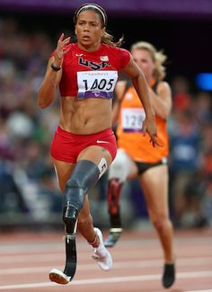 You may find your passion in unusual places....  April Holmes, Paralympic gold medalist in the 100-meter dash. In 2001, at age 27, the former college track star lost her left leg from the knee down in a train accident.
