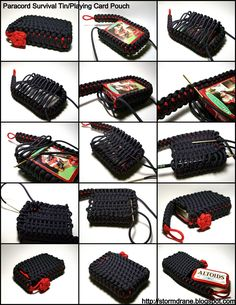 A pouch made from paracord for your Survival Tin or Playing Cards