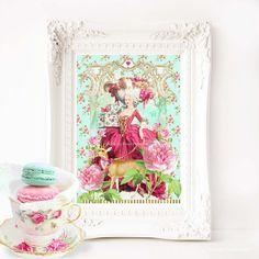 Marie Antoinette in the gardens of by MulberryslittleMuse on Etsy