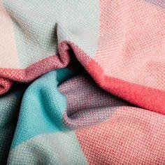 Sherbet Throw – Irish Design Shop Cashmere Throw, Irish Design, Design Shop, Pattern Making, Textiles, Color, Colour, Fabrics, Textile Art