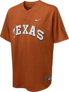 Texas Longhorns Nike Baseball Jersey #longhorns #texas #college