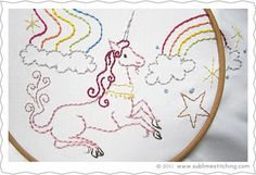 unicorn embroidery patterns