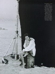 Photos PETER LINDBERGH  Harper's Bazaar - Little me - Christy Turlington - May 1993