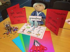 Little red riding hood get well cards for Grandma. Great for independent writing! Traditional Tales, Traditional Stories, Little Red Hen, Little Pigs, Curiosity Approach, Fairy Tale Crafts, Billy Goats Gruff, Creative Area, Eyfs Activities