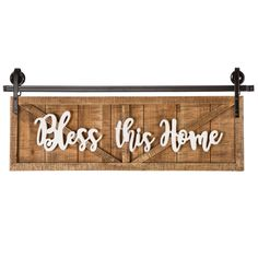 STUDIO WOOD WALL ART 35X13 | At Home Wooden Welcome Signs, Wood Signs, Wood Wall Art, Wall Art Decor, At Home Store, Panel Doors, Location, Decoration, Blessed